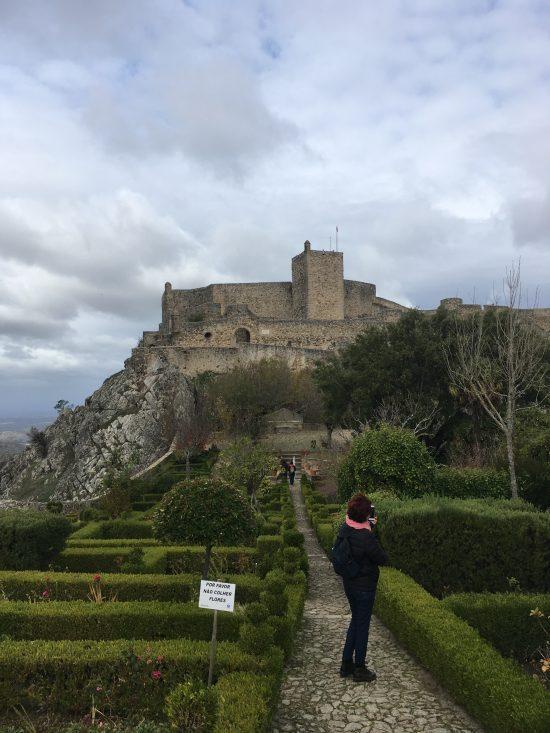 Marvao kasteel met tuin